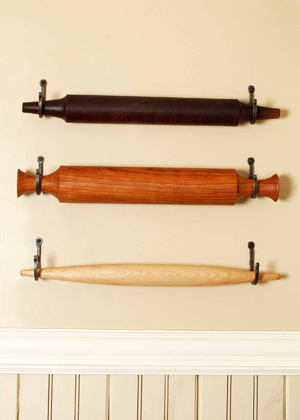 rolling pin holder display with hooks